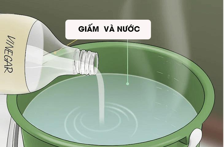 Cách lau nhà sạch bằng giấm
