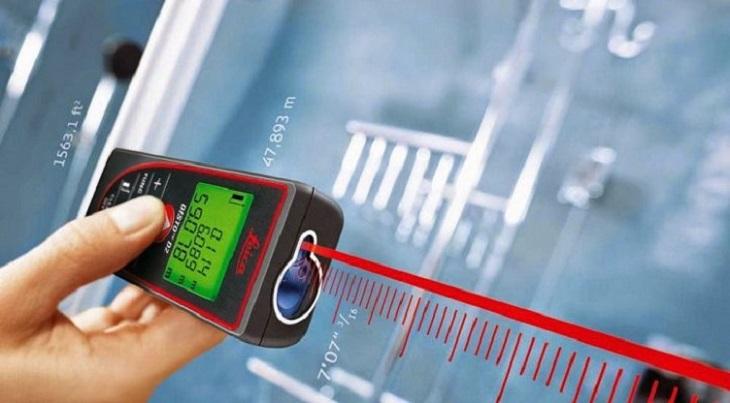 Máy laser là loại máy chuyên dụng để đo độ dài, đo khoảng cách đa năng