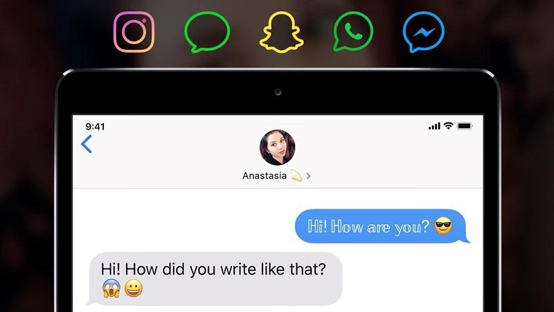 Mẹo tạo kiểu chữ theo phong cách độc đáo trên các ứng dụng mạng xã hội