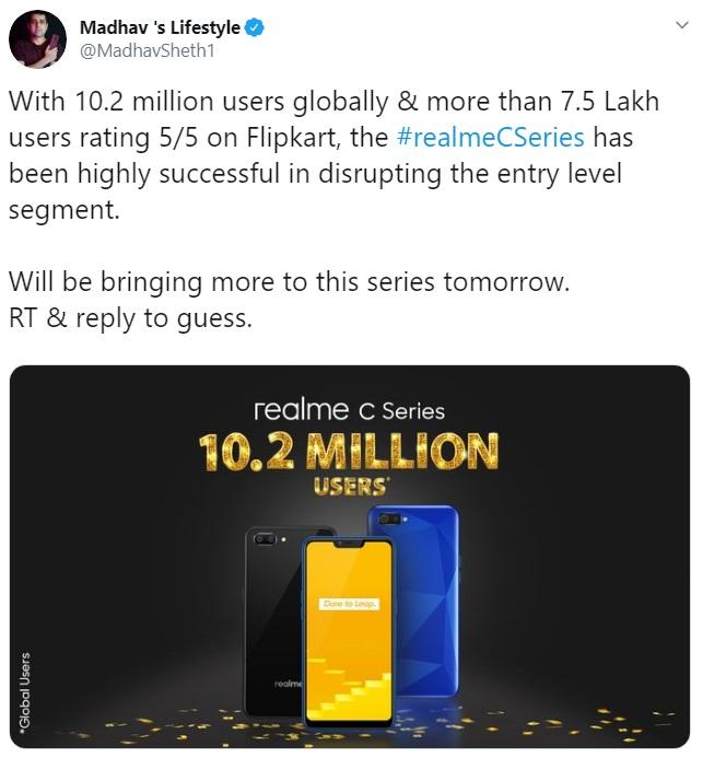Realme C3 và C3s sẽ ra mắt vào ngày mai