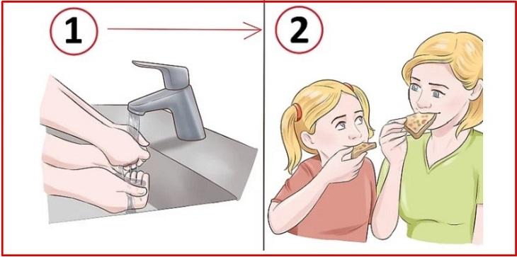 Rửa tay trước khi ăn
