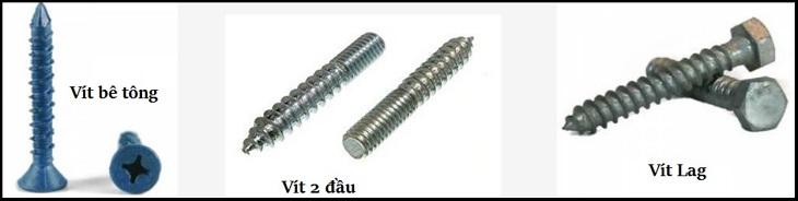 Các loại ốc vít phân loại theo ứng dụng