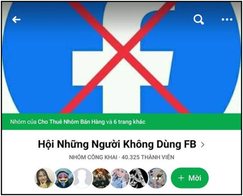 Hội những người không dùng Facebook