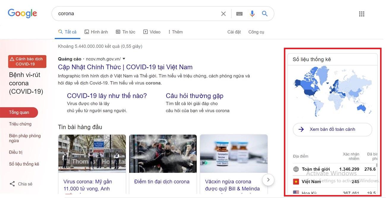 Trình theo dõi Covid-19 của Google