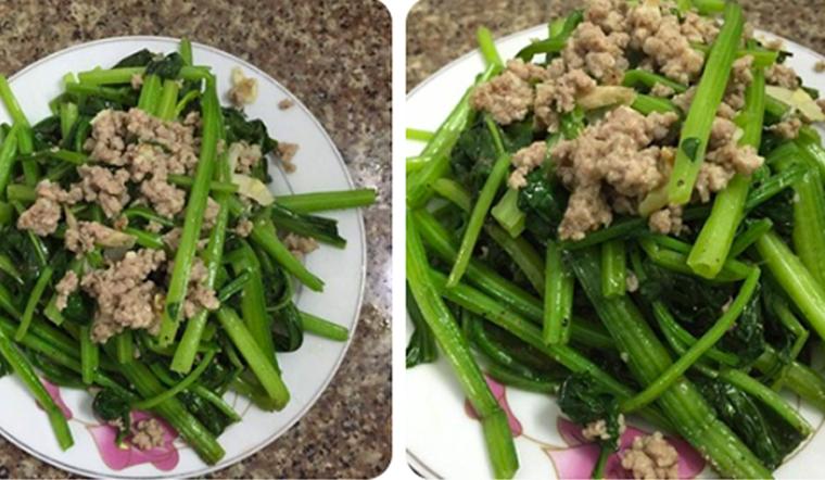 Cách làm rau bina xào thịt bằm đơn giản, ngon miệng, tăng sức đề kháng