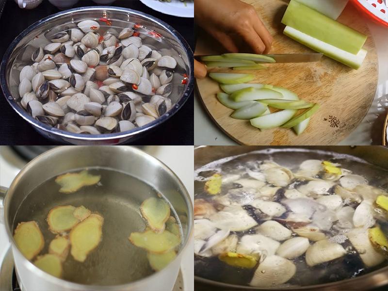 Cách làm canh bầu nấu nghêu thanh mát, ngon cơm
