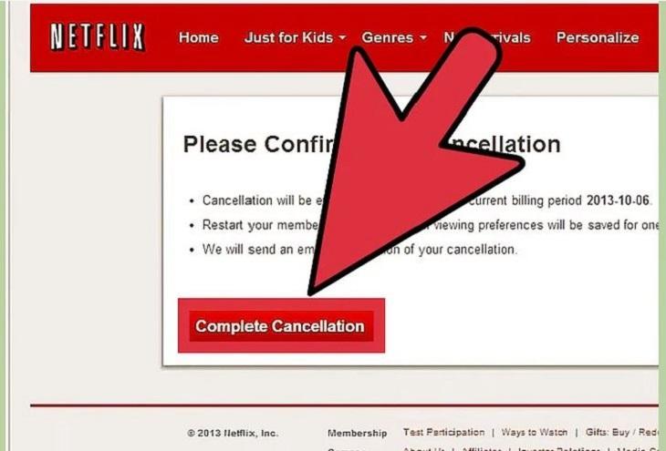 Nhấp vào Complete Cancellation
