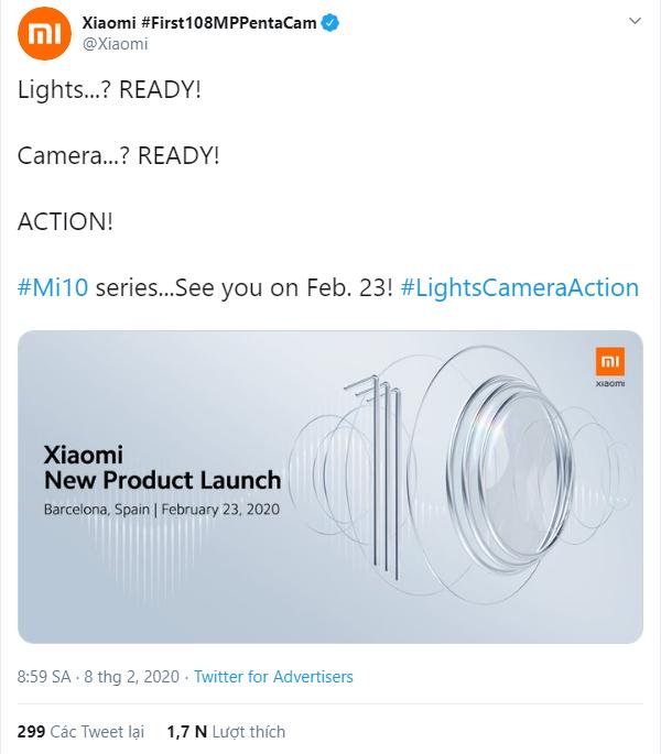 Xiaomi Mi 10 và 10 Pro chính thức được xác nhận ngày ra mắt