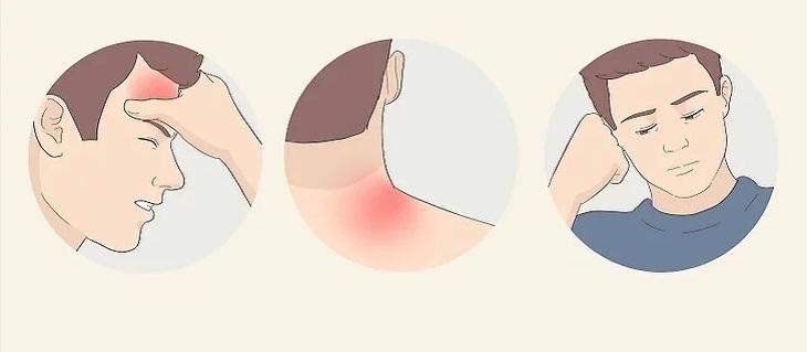 Nghỉ ngơi nhiều nếu bạn đau đầu, đau nhức cơ thể, mệt mỏi