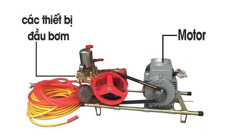 Các bộ phận chính của máy rửa xe dây curoa