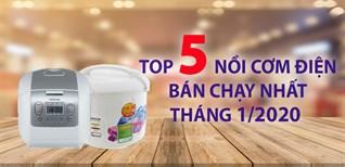 Top 5 nồi cơm điện bán chạy nhất Điện máy XANH tháng 01/2020
