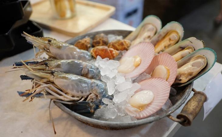 Các loại hải sản có vỏ