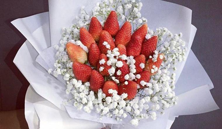 Tự làm bó hoa ăn được để tặng người yêu ngày Valentine