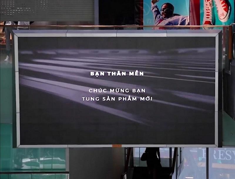 Màn hình quảng cáo tại tòa nhà Bitexco