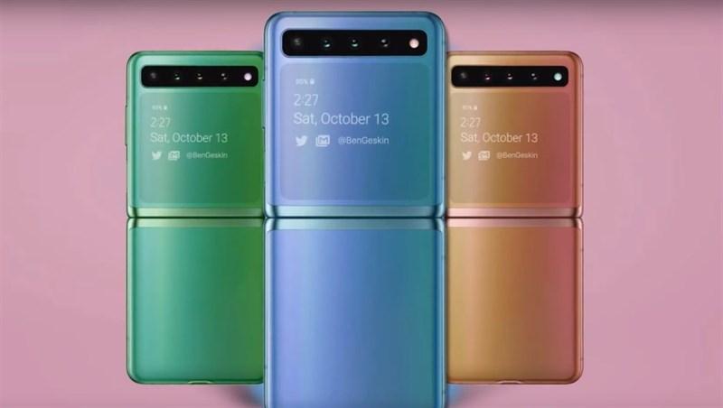 Thế này có sớm quá không? Galaxy Z Flip vừa lên kệ đã xuất hiện thiết kế Galaxy Z Flip 2 với màn hình lớn hơn, nhiều camera hơn