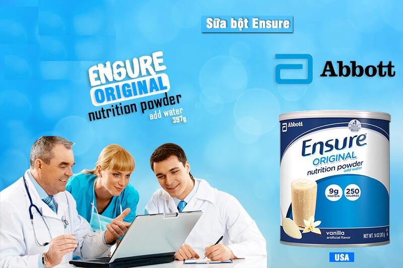 Sữa Ensure: 8 loại sữa ensure tốt hiện nay và công dụng