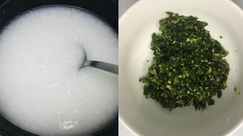 Chị Lan chia sẻ cách nấu cháo thịt bò rau muống giàu dinh dưỡng cho bé