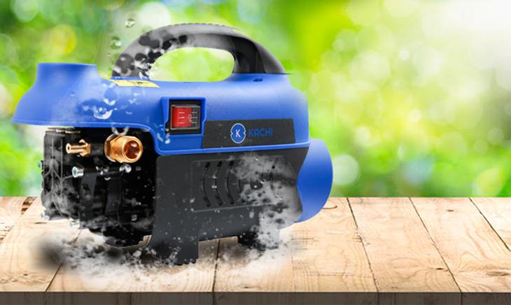 máy rửa xe chạy bằng mô tơ cảm ứng từ