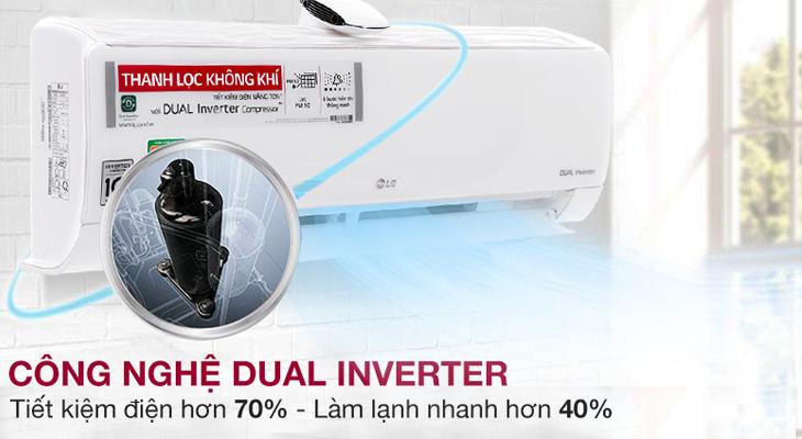 Sử dụng máy nén Dual Inverter giúp tiết kiệm điện