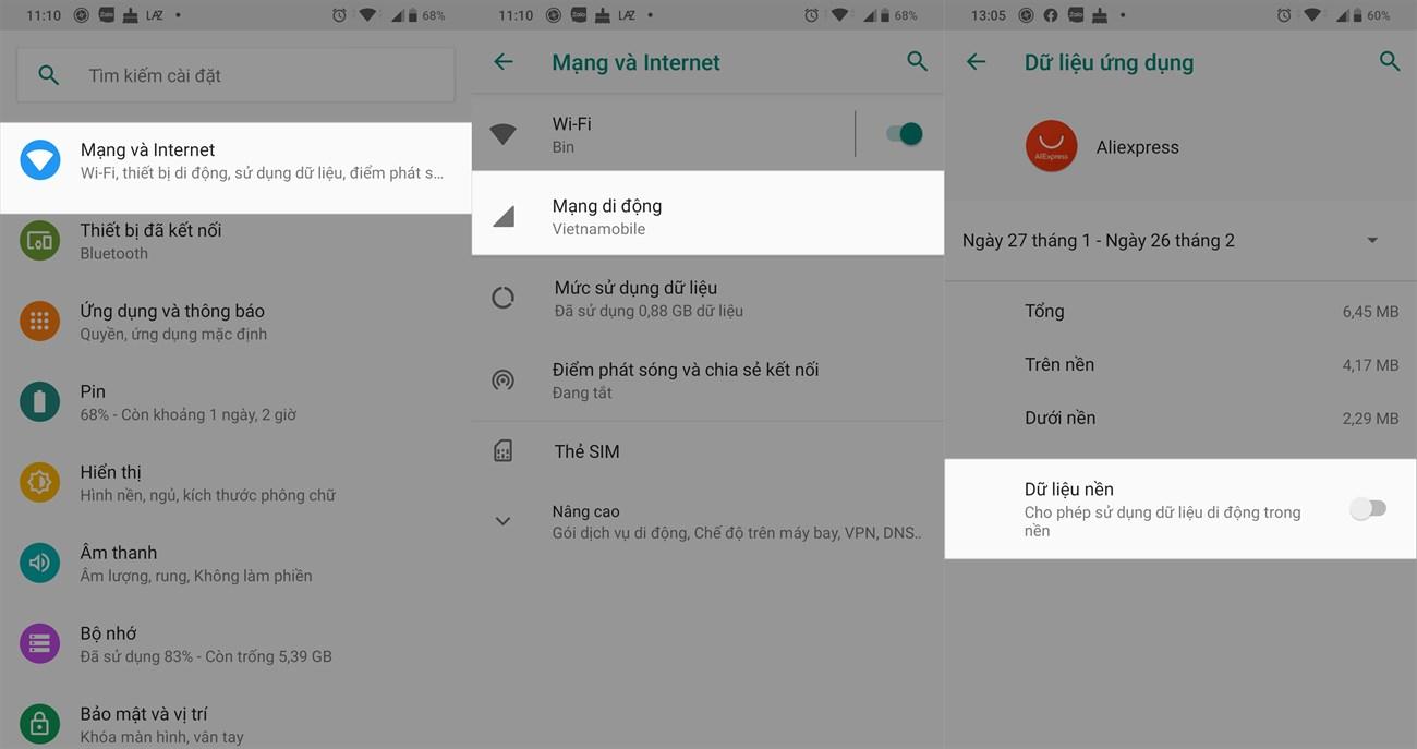 Cập nhật và vô hiệu hóa các ứng dụng trên Android