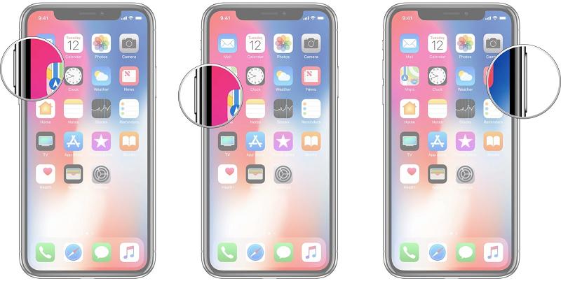 Khởi động lại điện phone iPhone X