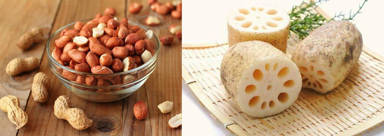 nguyên liệu chính làm củ sen xào đậu phộng