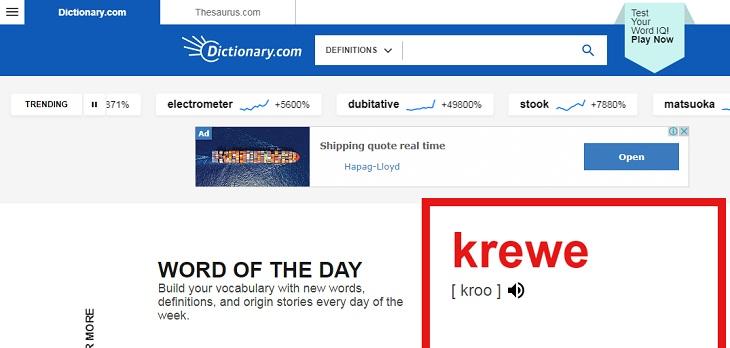 Chọn từ ngẫu nhiên trong từ điển