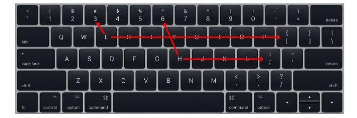 Dùng kí tự trên bàn phím