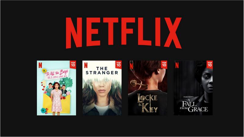 Netflix bổ sung thêm danh sách top 10 nội dung được xem nhiều nhất