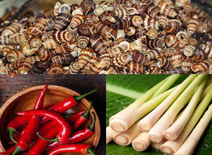 Nguyên liệu món ăn 2 cách làm ốc len xào dừa và xào sả ớt