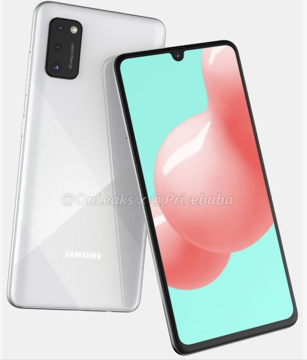Samsung Galaxy A41 lộ ảnh render sắc nét với cụm 3 camera chữ nhật mặt sau cùng màn hình Infinity-U tràn cạnh
