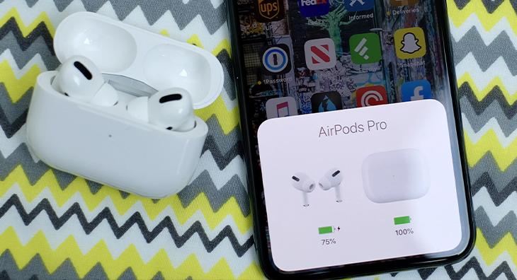 Có thể nghe nhạc khoảng 4.5 - 5 giờ, đàm thoại 3.5 - 3.5 giờ liên tục - Apple AirPods Pro