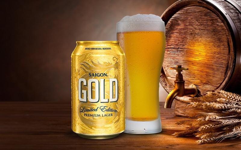 Giới thiệu về bia Saigon Gold, nồng độ cồn và giá bán