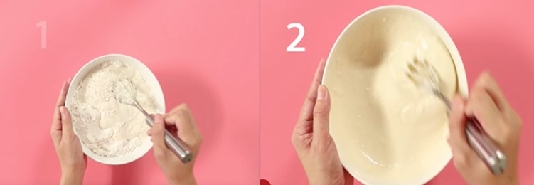 Bước 2 Trộn bột Hotdog xúc xích Hàn Quốc