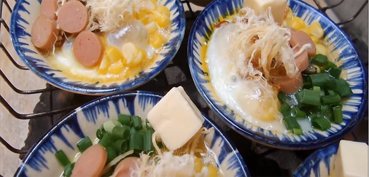 Bước 4 Nướng trứng trên bếp than và hoàn thành Trứng cút nướng chén