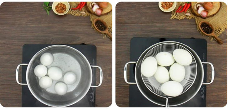 Bước 1 Luộc trứng vịt lộn Vịt lộn nướng muối ớt