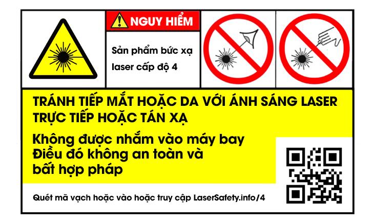 Nhãn cảnh báo laser cấp độ 4