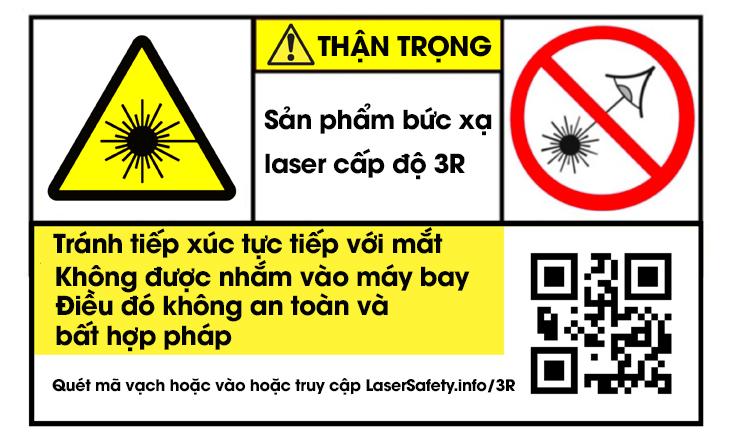 Nhãn cảnh báo laser cấp độ 3R