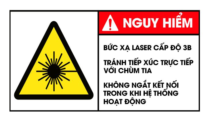 Nhãn cảnh báo laser cấp độ 3B