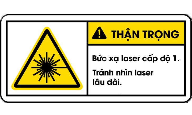Nhãn cảnh báo laser cấp độ 1