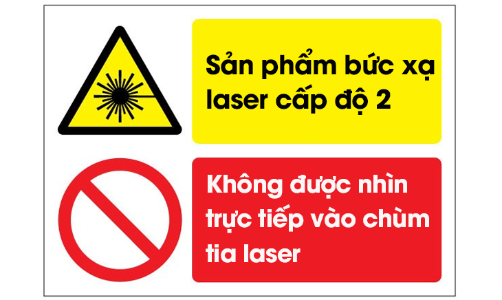 Nhãn cảnh báo laser cấp độ 2