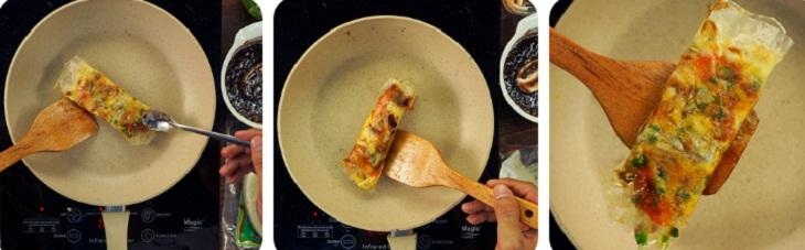 Bước 3 Nướng bánh Bánh tráng mắm ruốc làm bằng chảo chống dính