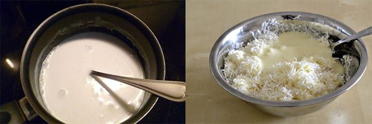 Bước 1 Chuẩn bị bột Bánh dừa chiên