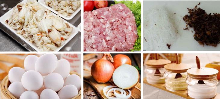 Nguyên liệu món ăn chả cua