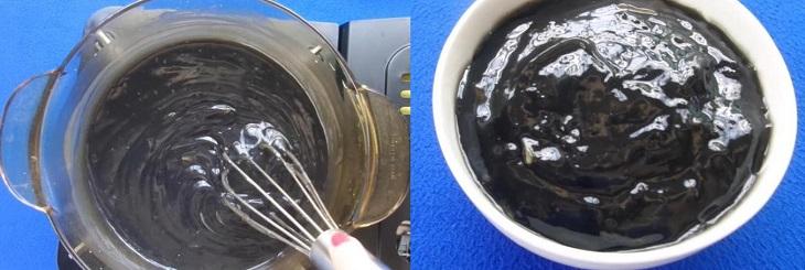 Bước 2 Nấu chè Chè mè đen gạo nếp
