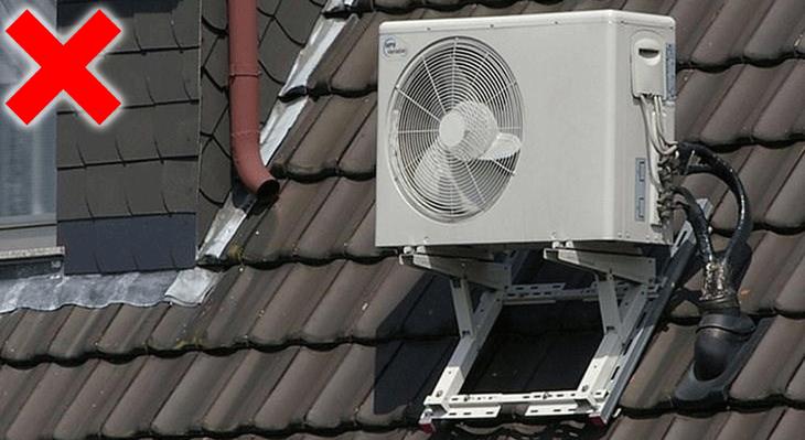Không nên để máy lạnh gần các nguồn nhiệt và ô nhiễm