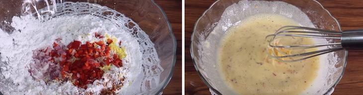 Bước 2 Trộn hỗn hợp bột Bánh bắp chiên cay