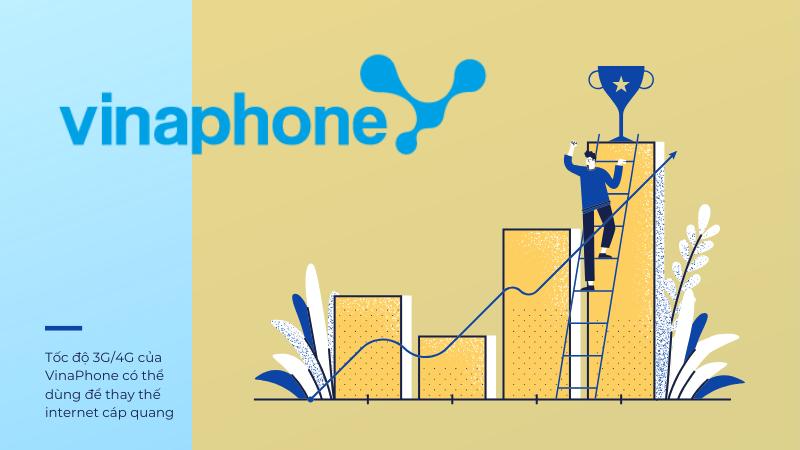 Tốc độ mạng 3G/4G của VinaPhone có thể dùng để thay thế Internet cáp quang