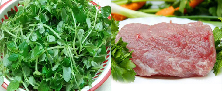 Nguyên liệu món ăn 3 món ăn với rau càng cua