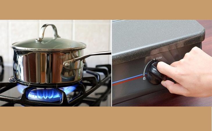 Cho nước vào nồi và đặt lên bếp và vặn to lửa